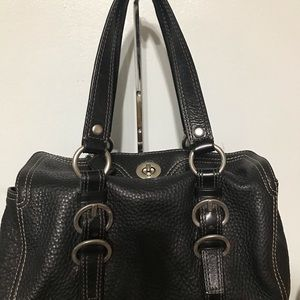 Coach Chelsea F12334 Black Pebbled Leather